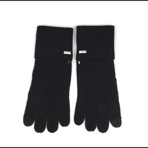 COACH | Black Signature Embossed Knit Tech Gloves